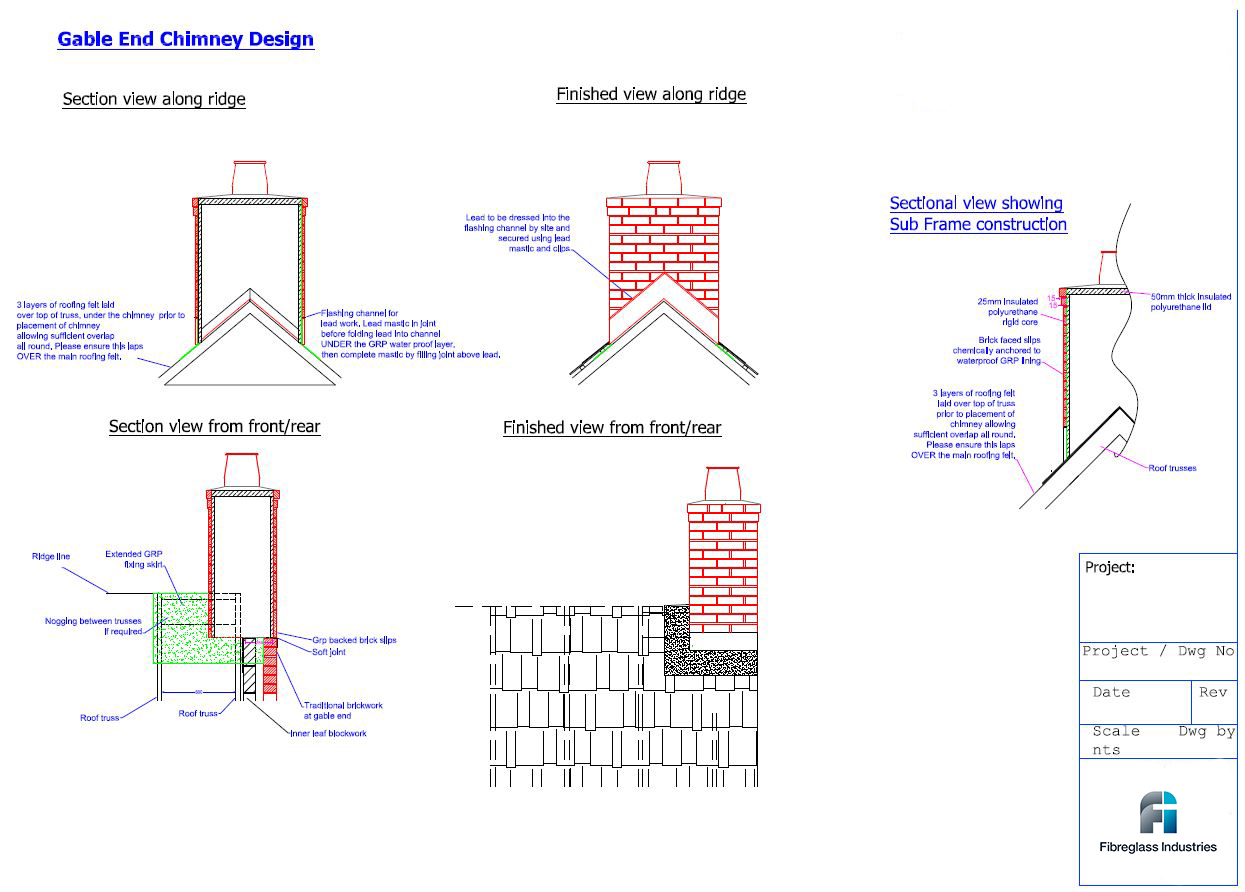 Banbury Innovations Brick Slip Chimneys