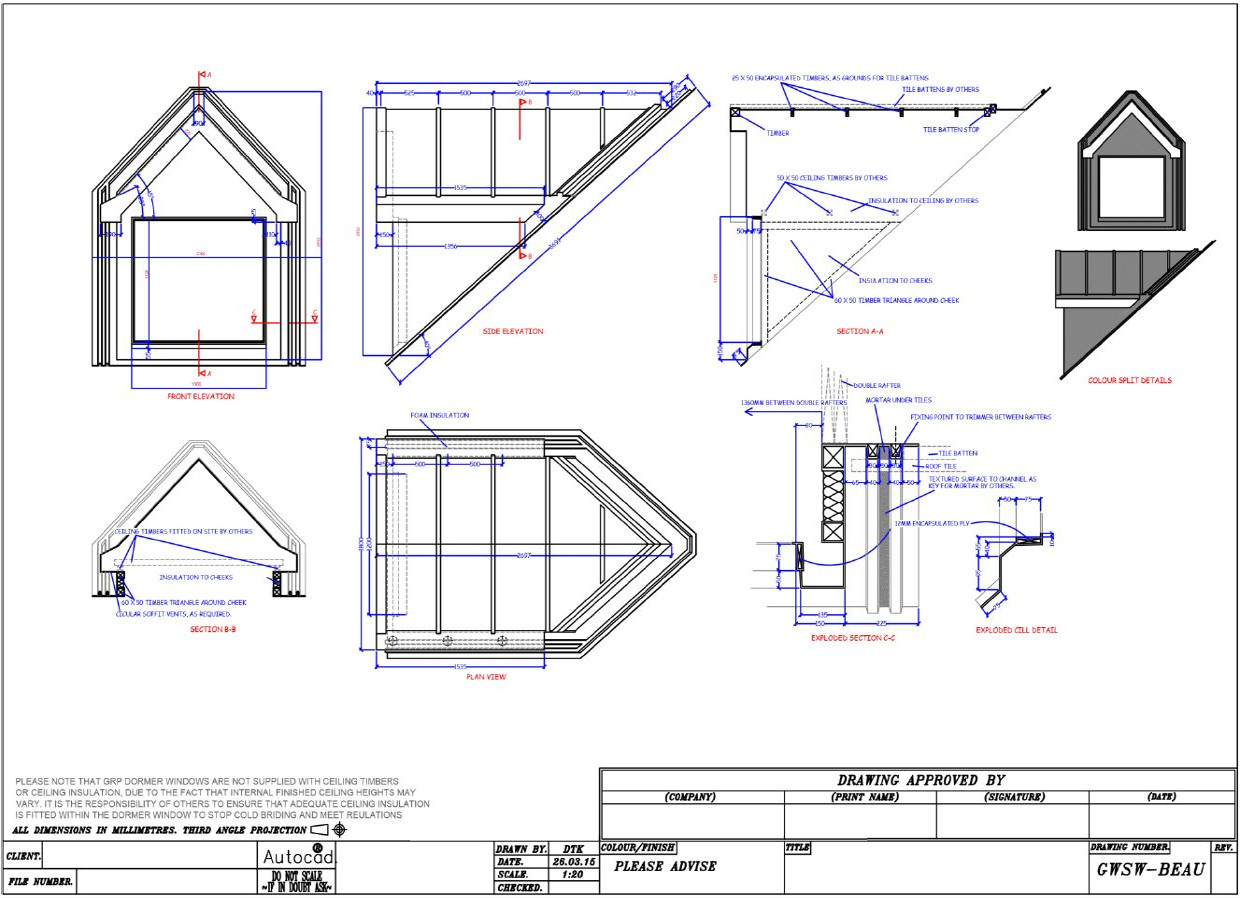 Banbury innovations architects lounge dwg drawings for Dormer window construction drawings