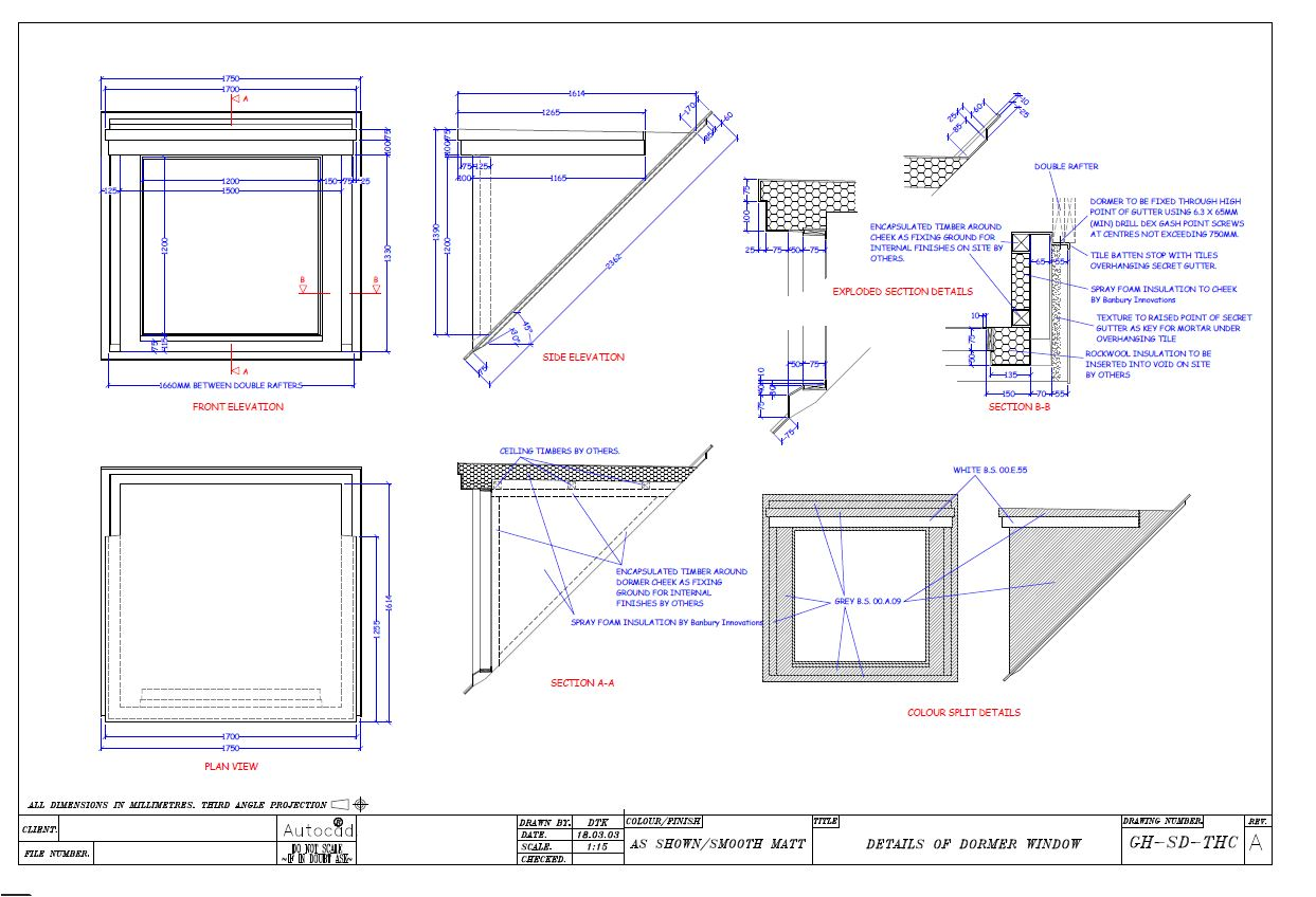Banbury innovations dwg file grp dormers for Dormer window construction drawings