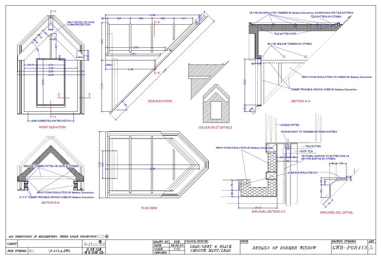 Dormer Window Details 28 Images Fastrackcad Lead Sheet