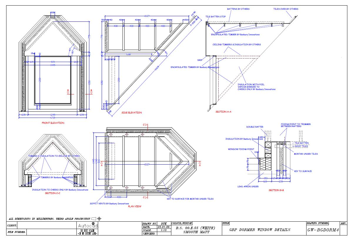 Dormer drawing images reverse search for Dormer window construction drawings